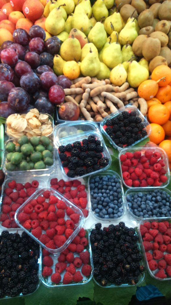 fresh fruit Bolhão market in Porto